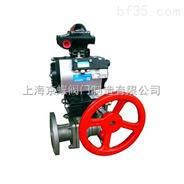 Q641F/H/Y气动带手动球阀,气动球阀