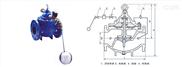 106X电磁遥控浮球阀 台湾富山阀门 品质保证