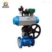 ZXDA中旭达强酸强碱耐腐蚀气动球阀、衬氟气动球阀、气动衬氟球阀