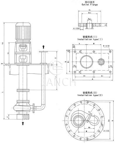 sfy立式液下泵结构图